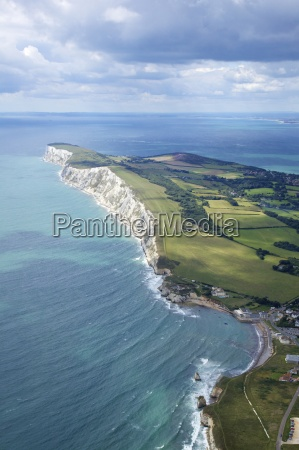 aerial view of freshwater bay looking