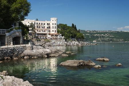 view along promenade opatija kvarner gulf