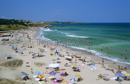 beach view tsarevo black sea coast