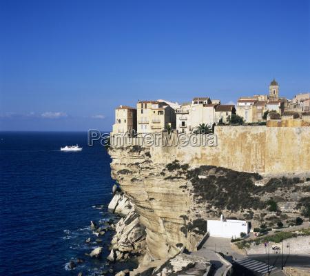 haute ville on cliff edge bonifacio