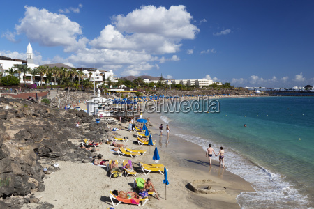 beach view playa blanca lanzarote canary