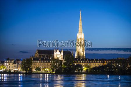 basilica, sain-michel, on, the, garonne, river, - 20830031