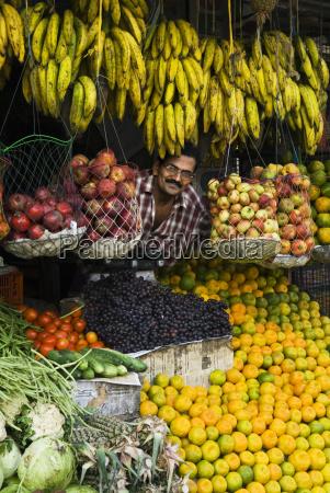 fruit stall kerala india asia