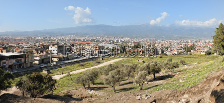 panorama over antioch hatay province southwest
