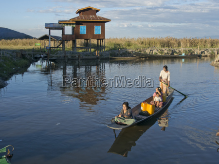 local people and tourists on a