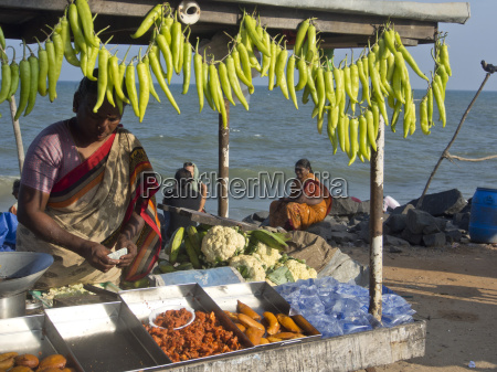 fruit and vegetable vendors on the