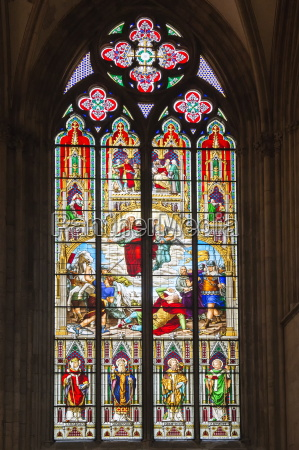 stained glass window cologne cathedral unesco