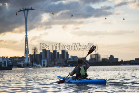 kayaking at sunset under the emirates