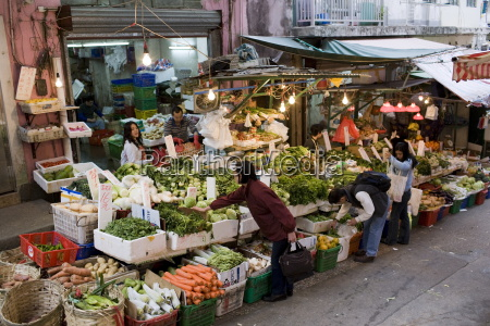 fruit and vegetables on sale in