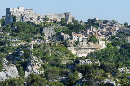 medieval village of les baux de