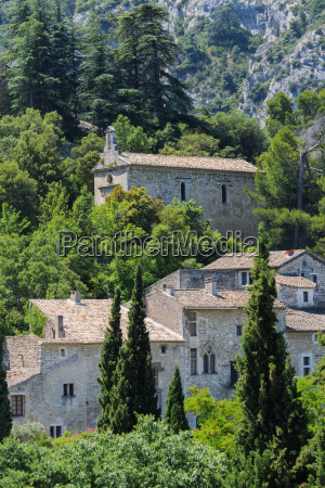 medieval village of oppede le vieux