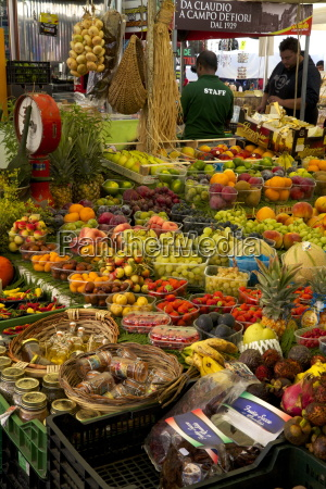 fruit and vegetable stall at campo