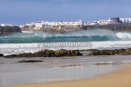 view from playa del castillo to