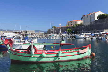 harbour and citadel ajaccio corsica france