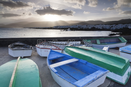 fishing boats and harbour of punta