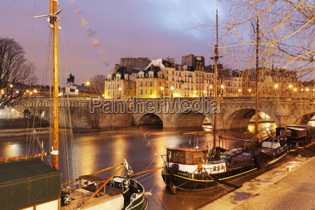 ships on the river seine and
