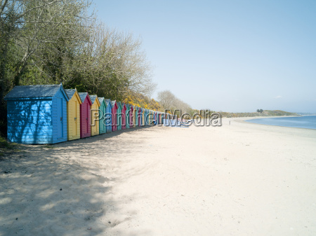 beach huts at holkham nature reserve