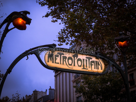 paris metro sign paris france europe