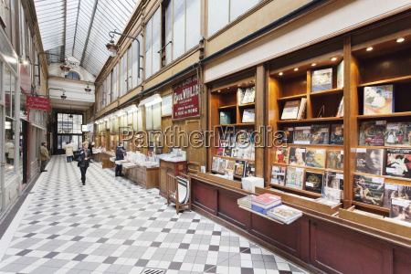 book shop in the passage jouffroy