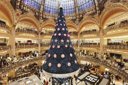 galeries lafayette at christmas season paris