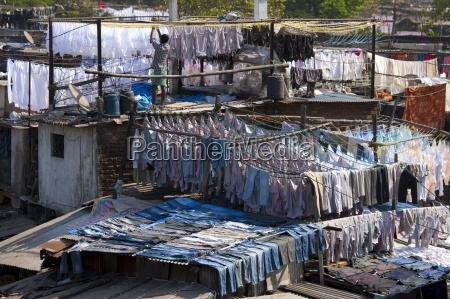 traditionelle indische professionelle handwaesche dhobi ghat