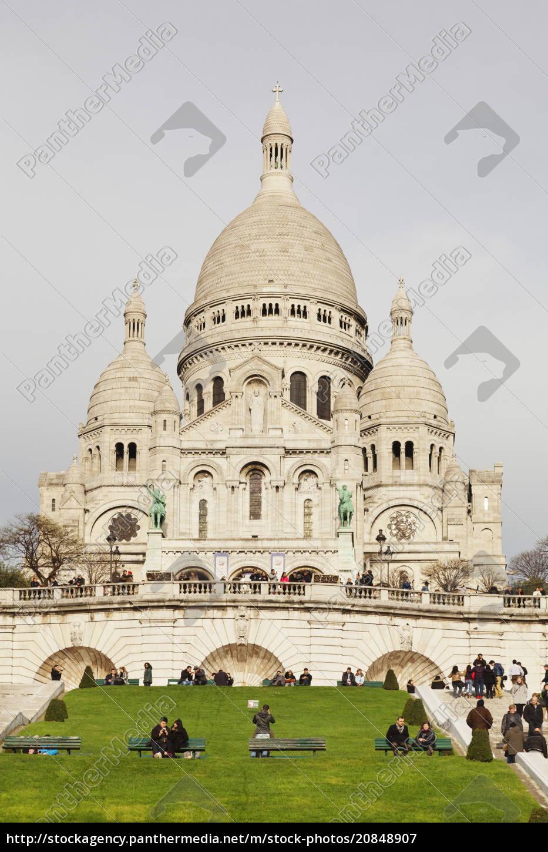 basilika, sacre, coeur, montmartre, paris, ile, de, france, frankreich, europa - 20848907