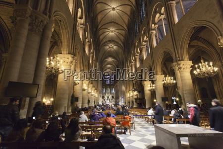 im, inneren, der, kathedrale, notre, dame, paris, ile - 20848721