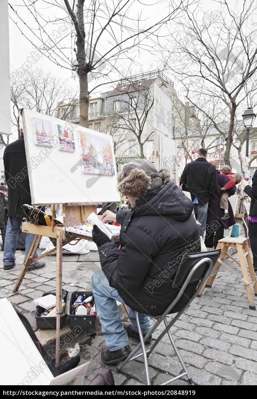 maler, an, dem, kunstmarkt, auf, der - 20848919