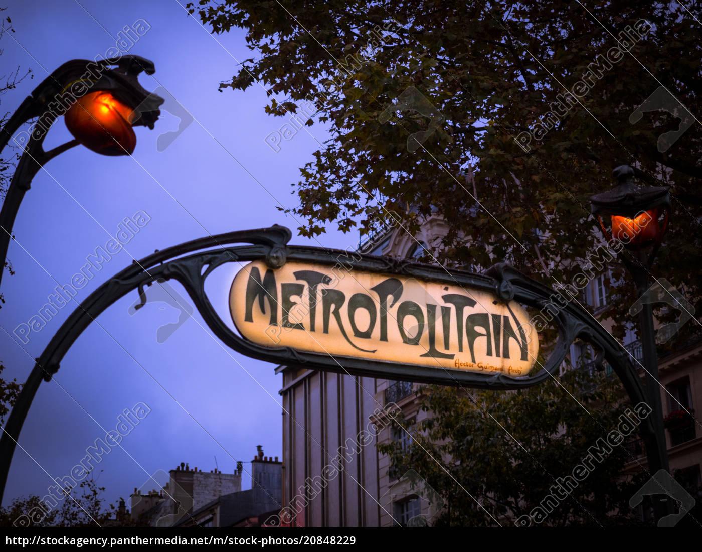 pariser, u-bahn-schild, paris, frankreich, europa - 20848229