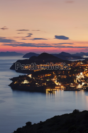 high angle view of dubrovnik at