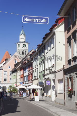 munsterstrasse and the tower of st