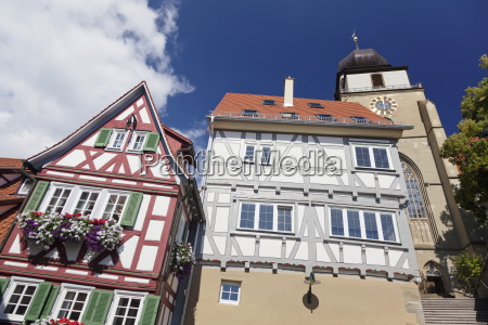 old town with half timbered houses