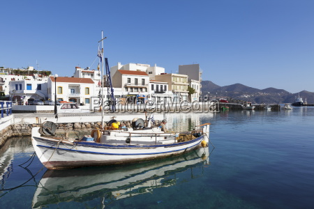 fishing boat in the harbour agios