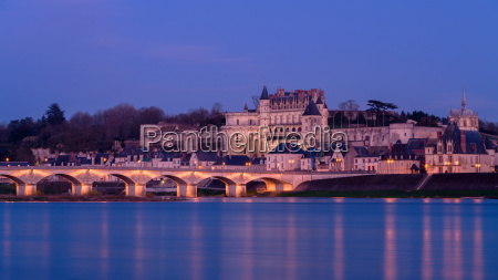 royal chateau of amboise lit at