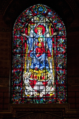 stained glass window in the cathedral
