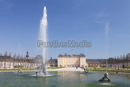 schloss schwetzingen palace baroque garden schwetzingen