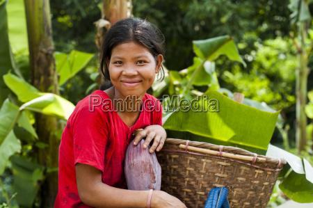 a chakma girl in the rangamati
