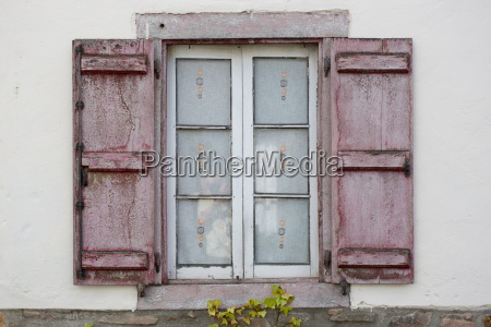 typical basque shuttered window in town