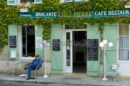 traditional french cafe chez pierre with