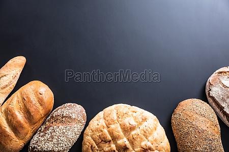 variety of freshly baked bread