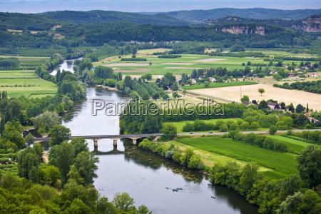 picturesque scene of the river dordogne