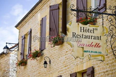 hotel restaurant gardette sign france beautiful