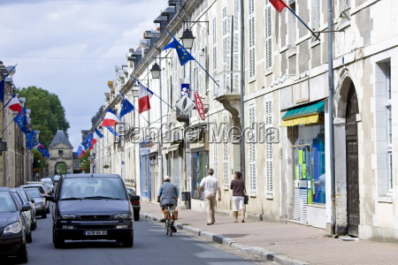 european community and french flags in
