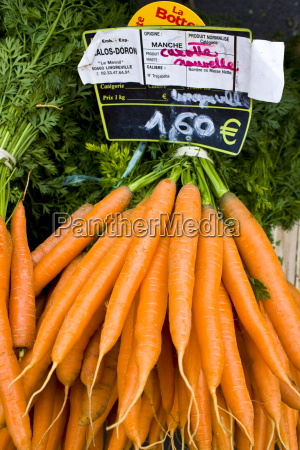 local produce carrots on sale at