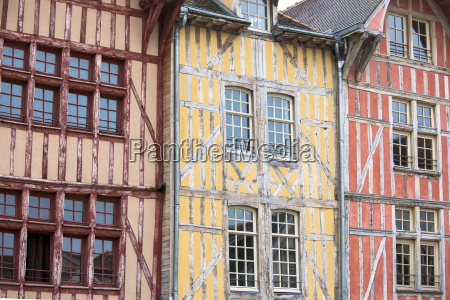 traditional medieval timber frame architecture at