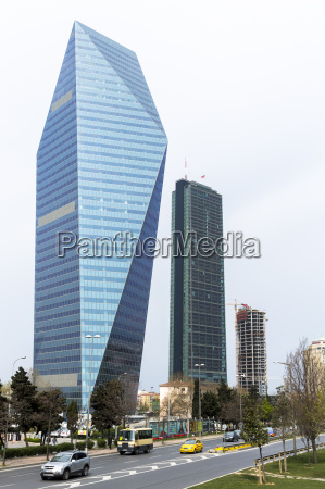 levent financial business district including skyscraper