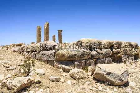 the columns of a ruined structure