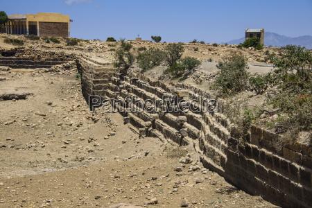 ancient sahira dam at the pre