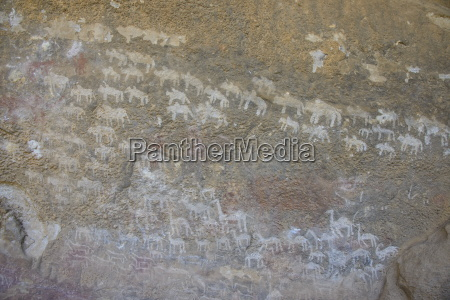 ancient rock paintings at the pre