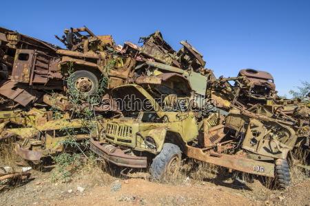 italian tank cemetery in asmara capital
